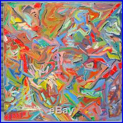 Vtg Abstract Oil Painting Signed Amy Graham, Dated 1984, & Titled