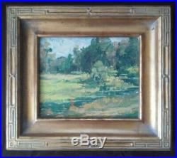 Vtg California Eucalyptus & Meadow Landscape Impressionist Oil Painting Mystery