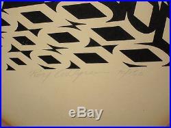 Vtg Dated 1970 Roy Ahlgren Exatopia Signed Ltd Ed Silkscreen Mid Century Modern