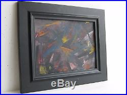 Vtg Mid Century Modernism Listed Artist Rolph Scarlett Abstract Painting SIGNED