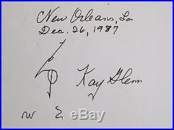 Vtg New Orleans Bars Jazz Band Street Scene Woodgraph Kay Glenn SIGNED Numbered