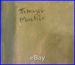 Vtg Realist Portrait Oil Painting Canvas Macho Young Man Signed Tommye Muller