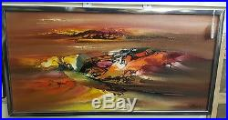Vtg Retro Orig Abstract Oil Painting Signed, Gallery Piece! RARE + Reduced