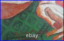 Vtg Signed Padraic Patty French (1925-2012) Framed Oil Abstract Nude Painting
