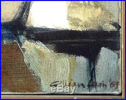 Wonderful Large Vintage Signed Original Abstract Oil Painting