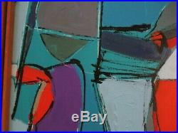 Walker Vintage Contemporary Modernism Painting Abstract Bold Modernism Cubism