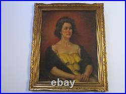 Walt Winslow Painting Portrait Female Model MID Century Vintage Estate Woman