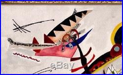 Wassily Kandinsky Original Signed Vintage Painting Rare No Print