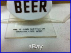 William G. Jung beer sign rare vintage light 1933 1935 acrylic reverse painted